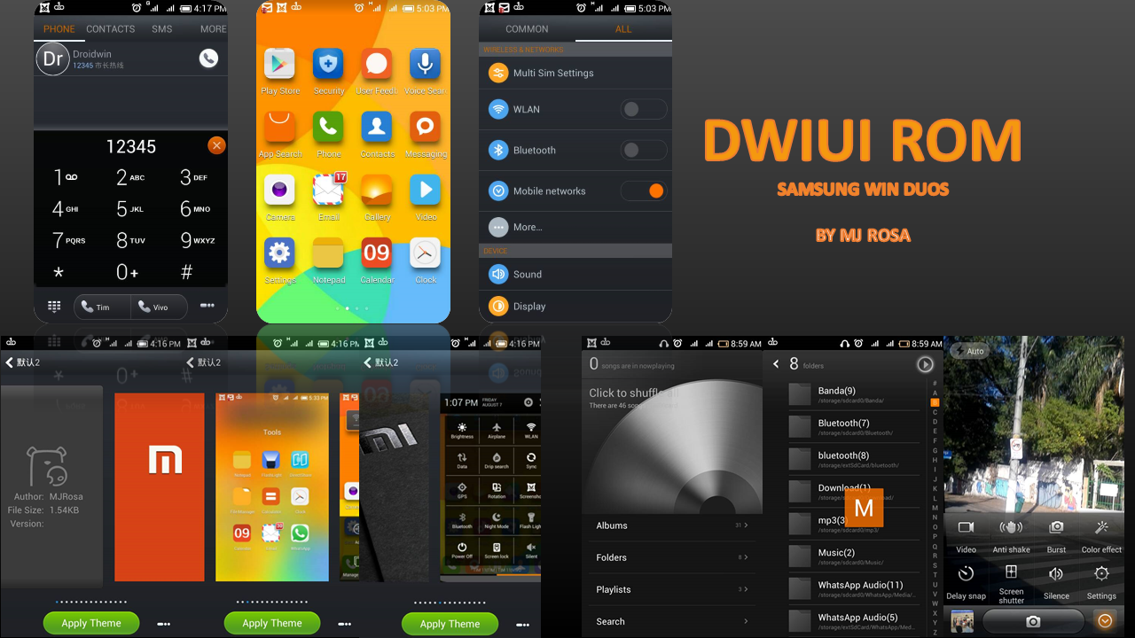 ROM] [AOSP] DWUI V6 ROM MIUI 6 FOR GALAXY GRAND QUATTRO